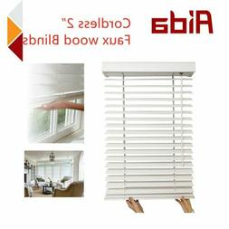 AIDA Cordless 2Inch Fauxwood Windows Office Kitchen Blinds B