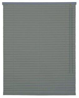 CORDLESS CHARCOAL Aluminum 1 Inch Mini Blind Choose Your Siz