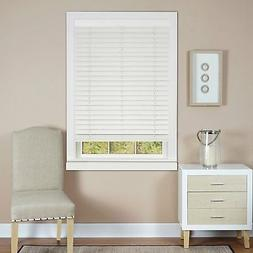 "Cordless Faux Wood Grain Window Blinds 2"" Plantation Blind -"