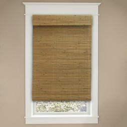 """Cordless Honey Bamboo Shades Blinds Curtains 35"""" wide x 72"""""""