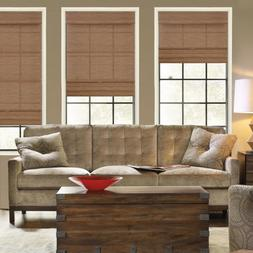 Cordless Light Filtering Woven Roman Shade Magnetic Privacy