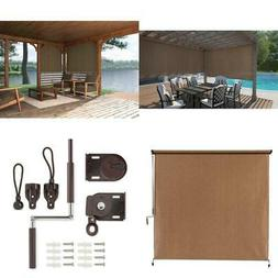 Cordless Outdoor Roller Shade Exterior Roll Up Blind Fabric
