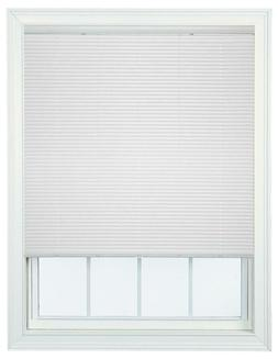 Single Touch Cordless 1 Inch Mini Blind in WHITE Choose Size