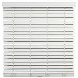 Cordless/Wandless 2 inch Faux Wood Blinds - White - Free Shi