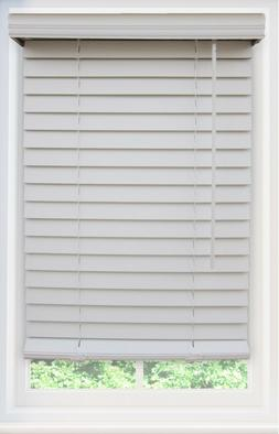 CORDLESS White 2 Inch Faux Wood Horizontal Blind Choose Your