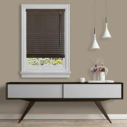 "Cordless Window Blind Faux Wood 2"" Inch Room Darkening Windo"