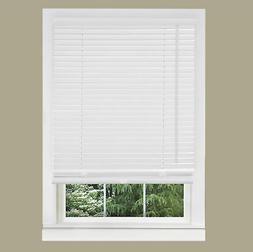 "Cordless Window Minds Mini Blinds 1"" Slats White Vinyl Blind"