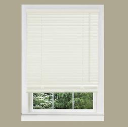 "Cordless Window Minds Mini Blinds 1"" Slats Alabater Vinyl Bl"