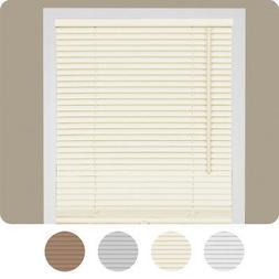 "Cordless Window Mini Blinds 1"" Slats Room Darkening Vinyl Bl"