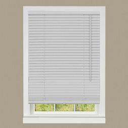 "Cordless Window Mini Blinds 1"" Slats Room Darkening Gray Vin"