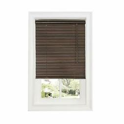 "Cordless Window Mini Blinds 1"" Slats Room Darkening Mahogany"