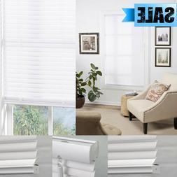 "CORDLESS WINDOW WHITE MINI VINYL BLIND 1"" PRIVACY SHADE BLIN"