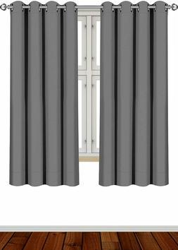 2 Panel Curtains Blackout Room Darkening Grommet Window 52x6