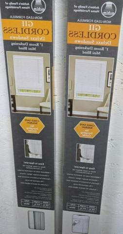 Deluxe Sundown GII Cordless Venetian Blind, 35 W x 64 L, Pea