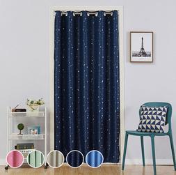 Door Drape Curtain Panels Room Divider Star Printed Room Dar