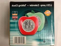 English Talking Alarm Clock Visually Blind Time Temp RED Tea