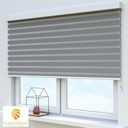 Square Roller Blinds / Fashion Shades in Cassette Zebra Styl