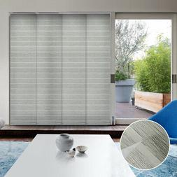 Gray Vertical Blind Adjustable Sliding Panel Patio Glass Doo