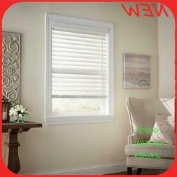 hdc Cordless 2 in. Faux Wood Blind 33 1/4 in x 64 in. white