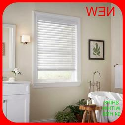 """HDC White Cordless 2 in. Faux Wood Blind - 29 3/8 """" W x 72"""""""