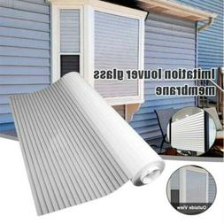 Horizontal Glass Blinds Static Glue-free for Home Office