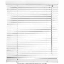 "Window Blinds - 40"" Wide White Horizontal Venetian Blinds 64"