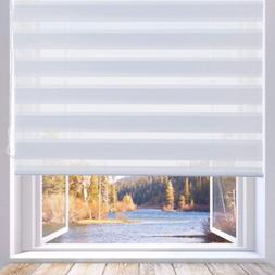 LUCKUP Horizontal Window Shade Blind Zebra Dual Roller Blind