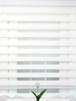 Horizontal Window Shade Curtains, Dual-Roller Zebra Blinds,