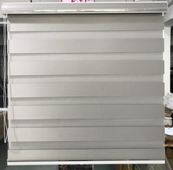 Horizontal Zebra Dual Roller Blinds Window shades Custom Siz