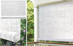 Indoor Outdoor Window Blinds Sun Shade Vertical White 36 48