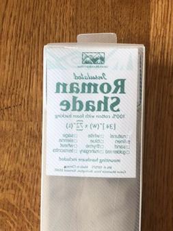"Insulated Roman Shade Foam Backing Linen 34"" X 72"" Green"