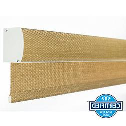 FREE STOP Bamboo Color Natural Woven Cordless Window Blind R