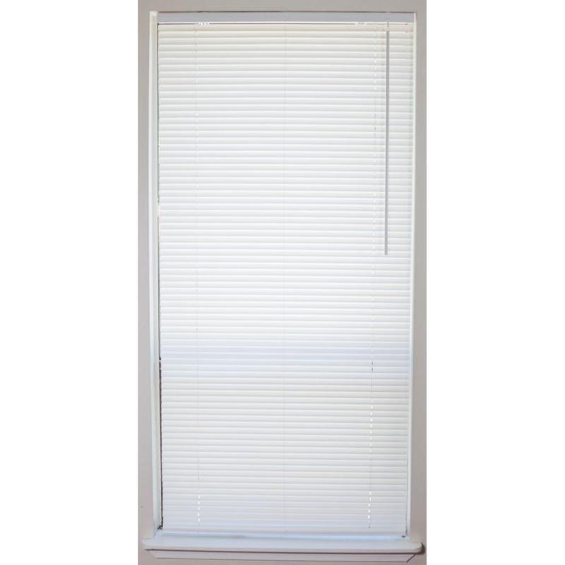 1 in. Vinyl Mini Blind Cordless Window Blinds Shade Washable