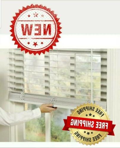 2 faux wood blinds cordless multiple sizes