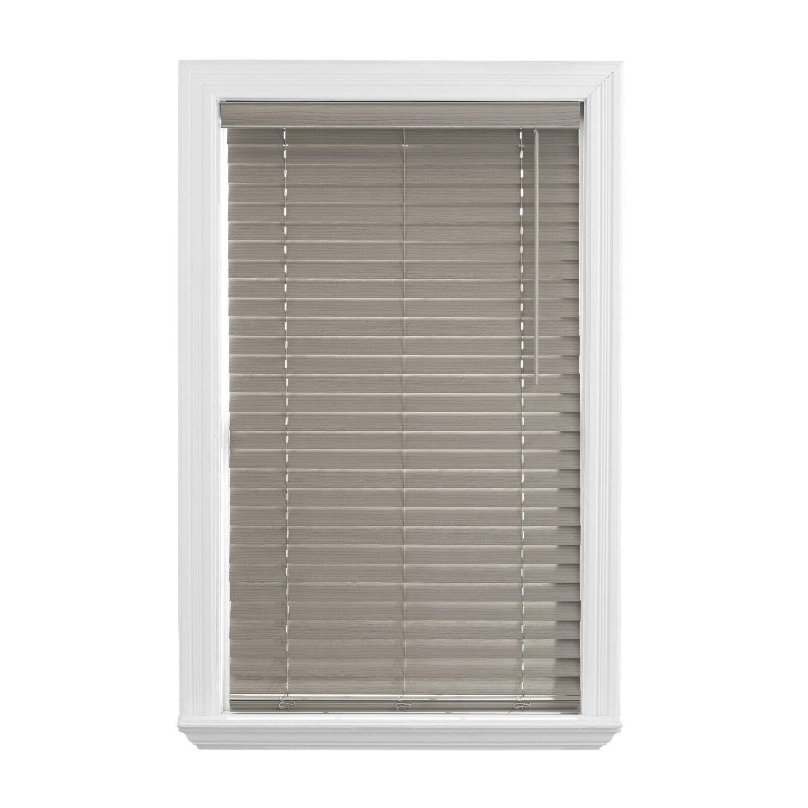 2 inch gray faux wood windows blinds
