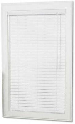 24W x 64L in. Cordless White Faux Wood Window Blinds Room Da