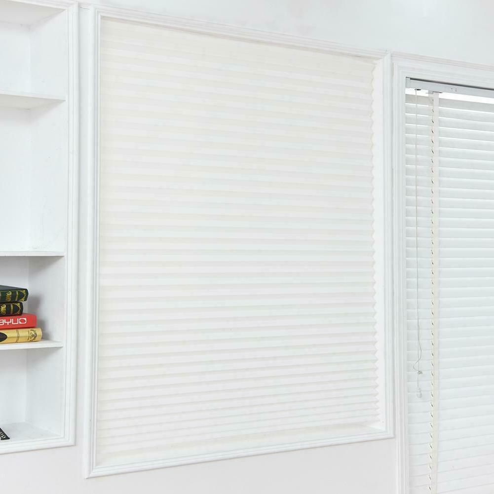 4 Sizes Pleated Curtain Cordless Patio Window Curtain