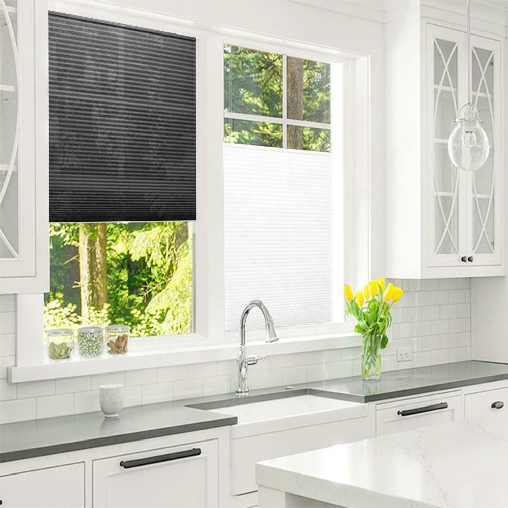 4 sizes pleated curtain blind blackout light