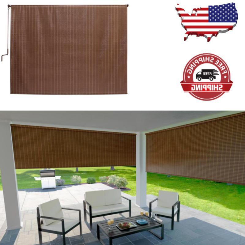 4Ft Window Sun Blind Roll Exterior Patio Porch