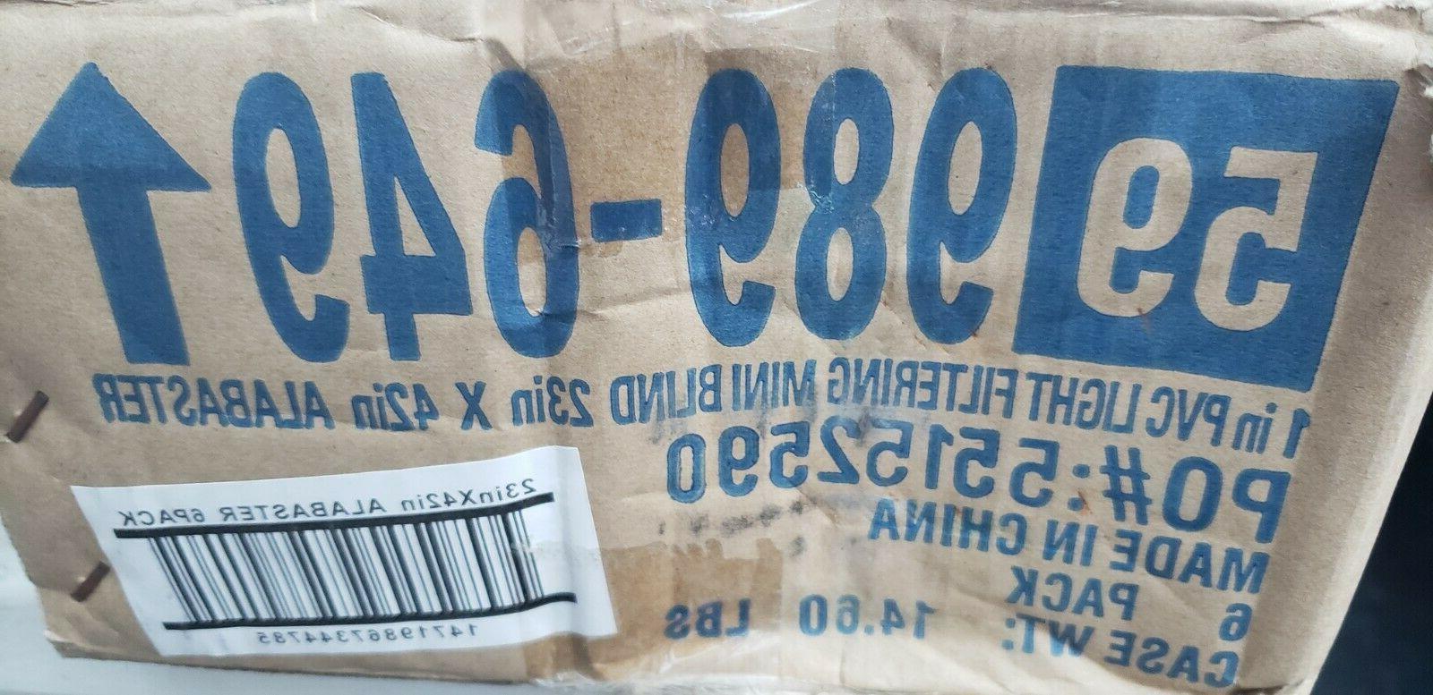 "6-Bali Vinyl Mini 23"" x 42""-Alabaster"