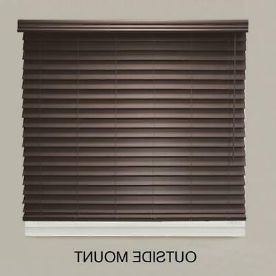 72x64 Espresso Faux Wood Darkening Privacy Window