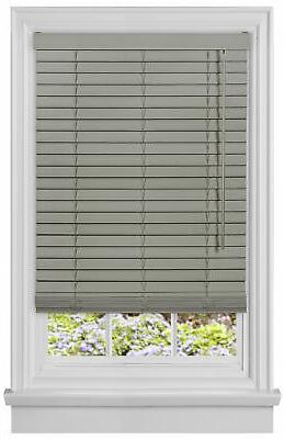 cordless gray mini window blinds 2 inch