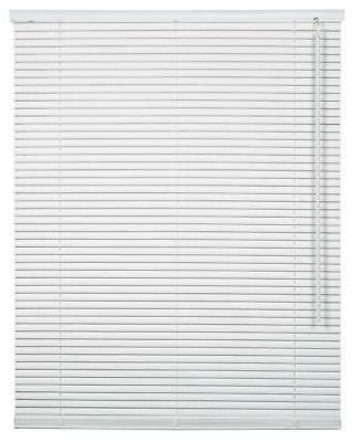 cordless white aluminum horizontal 1 inch mini