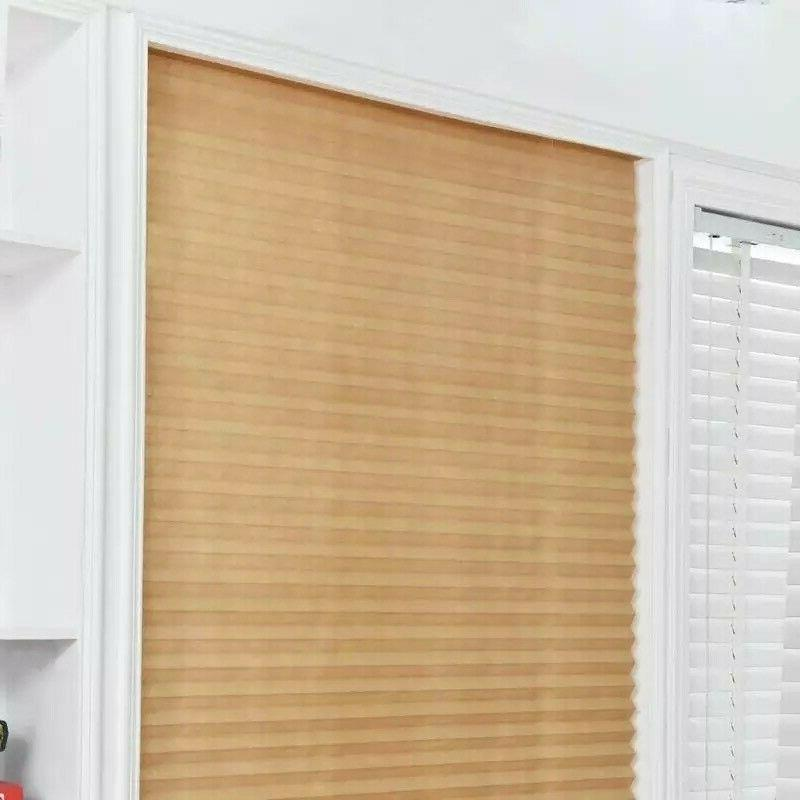 Fabric Pleated Window Self-Adhesive Blackout Kitchen