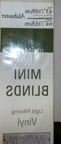 """Mini Blinds Width 43"""" Length 64"""" Vinyl"""