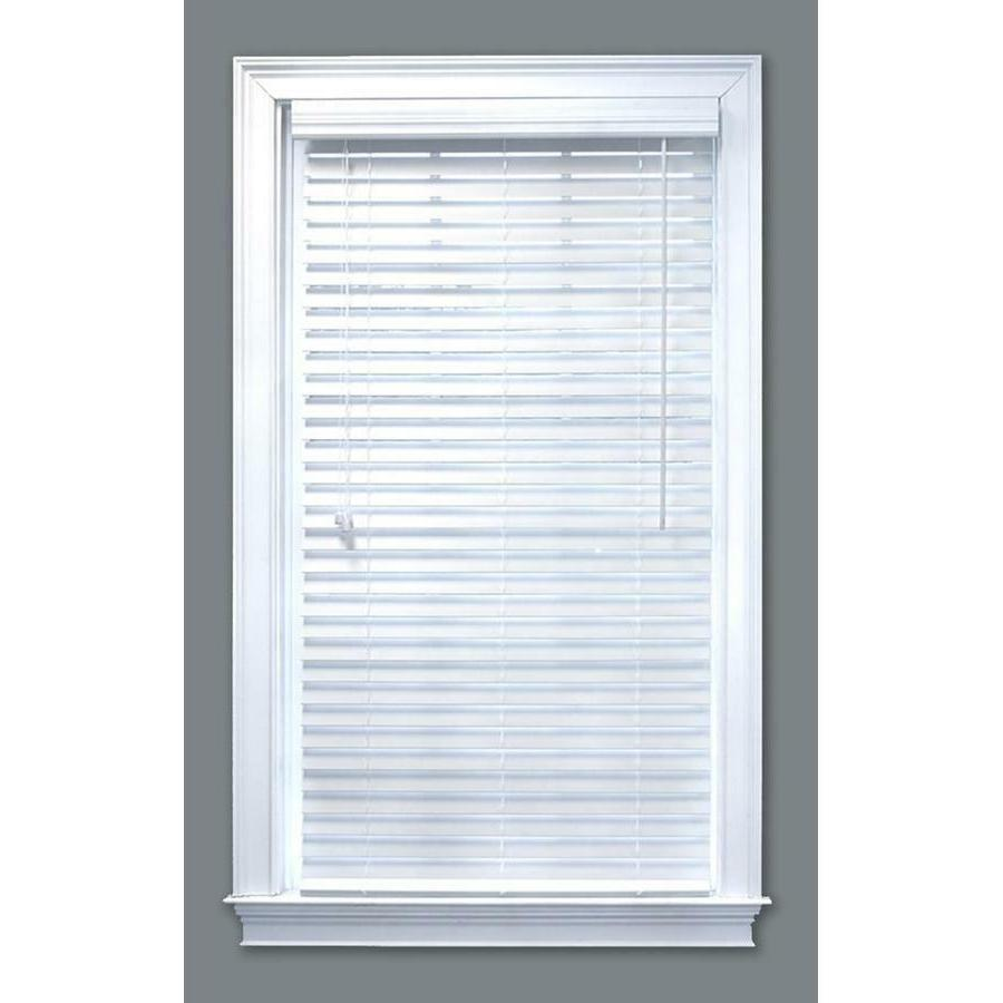 new 2 white faux wood blinds various