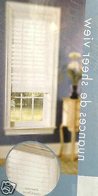 NEW White SHEER VIEW window shade Blind 23 27 30 35 36 46 47