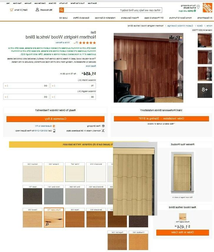 northern heights wood vertical blinds color rustic