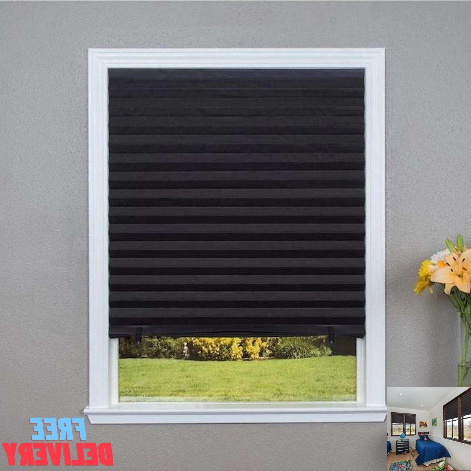 36'' x 72'' Paper Pleated Shade Window Blind Sun UV Block Bl