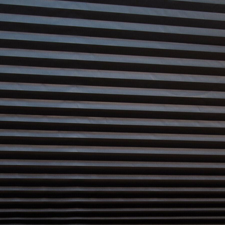 PAPER PLEATED SHADE 36'' x 72'' Window Blind Blackout Light Block Black